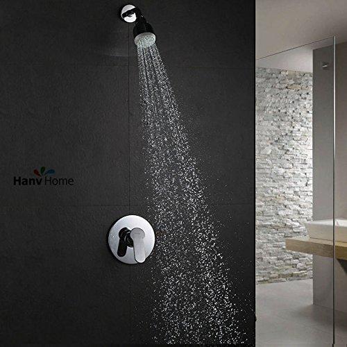 Luxurious shower Air Typ Einspritzanlage Duschkopf Badezimmer Dusche jet Körper Feldspritze mixer Ventil Showrer Arm, Weiß
