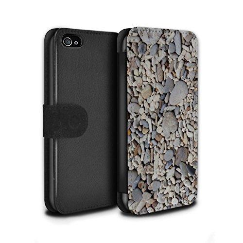 Stuff4 Coque/Etui/Housse Cuir PU Case/Cover pour Apple iPhone 4/4S / Cailloux des Plages Design / Pierre/Rock Collection Cailloux Lisse