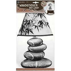"""Wandsticker mit Licht """"Balance"""": Mit Glitzer-Lampenschirm"""