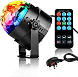 NIUBIEER Disco lights Disco ball 3W RGB LED strobe light Music Activated Party lights Glitter ball with Remote Control,Mini Mirror ball Light weight rotating effective DJ Disco lighting for Home birthday party,KTV,Bar,Stage,Wedding Celebration