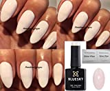 Bluesky - A92 - Vernis à ongles de couleur Coton rose clair - Gel à UV ou à LED - 10 ml - 2 Lingettes Shine Wipes de Homebeautyforyou incluses