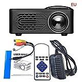 SO-buts Mini Beamer,7000 Lumens,Full 1080P Video LCD Mini HD Projektor, Mini Tragbarer LED Projektor Unterstützung HDMI,USB Kino Multimedia, Heimkino Kino Multimedia Projektor (Schwarz)