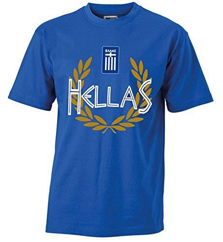 T-Shirt Griechenland Hellas Shirt Greece (M, Royal Blau)