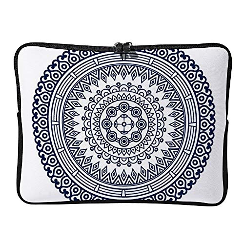 DKISEE 13-13.8 Inch Floral Mandala Bohemiann Laptop Sleeve Case Bag Cover Compatible for Notebook MacBook Air MacBook Pro -