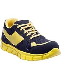 Savie Shoes Yellow&Black Men's Casual Sport Shoes