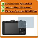 2x Entspiegelnde Displayschutzfolie Bildschirmschutzfolie von 4ProTec für Sony Cyber-shot DSC-HX50V - Nahezu blendfreie Antireflexfolie