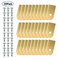 Czemo 30pcs Titanium Replacement Blade for Husqvarna Automower Gardena Lanmower, Lawn Mowers Replacement for 105, 310, 315, 320/420/430x, R40I etc