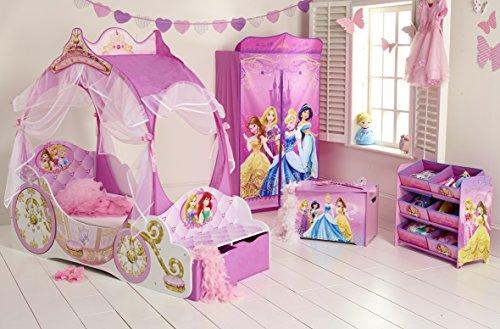Kleinkinderbett für Mädchen im Kutschendesign von Disney Prinzessin, mit Baldachin - 2