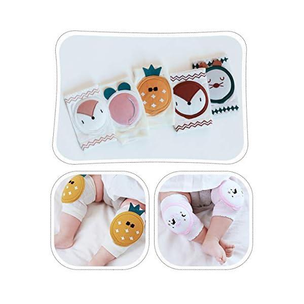 puseky 1 par de Rodilleras para Bebés Unisex Algodón Transpirable Calentador de Piernas Cubierta Protectora de Seguridad… 5