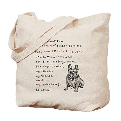 CafePress–Sie sind nicht Möpse (Smiling Frenchie)–Leinwand Natur Tasche, Reinigungstuch Einkaufstasche, canvas, khaki, S