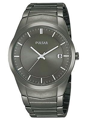 Pulsar PS9153X1 - Reloj de Pulsera Hombre, Acero Inoxidable, Color Gris