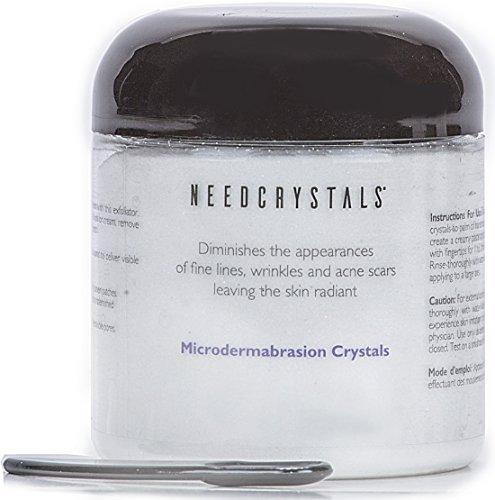NeedCrystals Mikrodermabrasion Kristalle, Gesicht Peeling. Natürliches gesichtspeeling für stumpfe oder trockene Haut verbessert Akne-Narben, Mitesser, Porengröße, Falten, Flecken und Hautstruktur. 227 Gramm