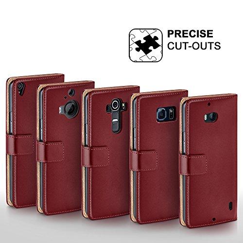 Cover OneFlow per iPhone 7 Plus Custodia con scomparti documenti   Flip Case Astuccio Cover per cellulare apribile   Custodia cellulare Cover rotettiva Accessori Cellulare protezione Paraurti Deep-Bla MAROON-RED