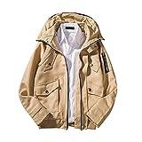 TWBB Herren Mantel Einfarbig Jacke Freizeit Trenchcoat Slim Fit Vintage Klassisch Blusen Jacket