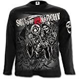 Sons Of Anarchy Camiseta de Manga Larga Collage Reaper (Negro) - L