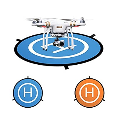 "43""/110cm Large Drone Landing Pad, AooPoo Fast-Fold Parking Apron Landing Pad For Drone DJI Phantom 2/3/4/4 Pro, DJI Inspire 2/1, DJI Mavic Pro, 3DR Solo drone, Parrot drones, Antel Robotic X-star, Syma, Hubsan, Holy Stone, UDI drones"