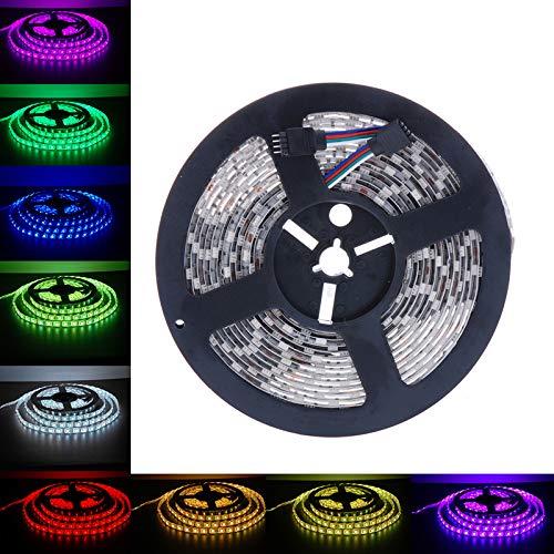 DIKHBJWQ 5m 500cm 5050 SMD RGB 300LEDs Lichterkette LED Nachttischlampe Flexible Lichtleiste Lampe Tischlampe DC 12V Nachtlicht Outdoor Tischlampe Wasserdicht