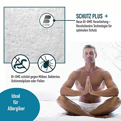 Wasserdichter Matratzenschoner 180×200 cm – Matratzenauflage Atmungsaktiv – Anti-Allergisch gegen Schimmel