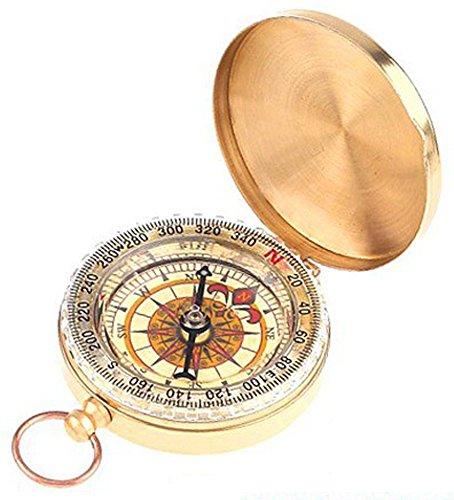 SaySure - Classic Brass Pocket Watch Style Compass