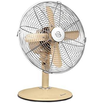 Swan Retro 12 Inch Desk Fan 1 Kg 45 Watt Cream Amazon