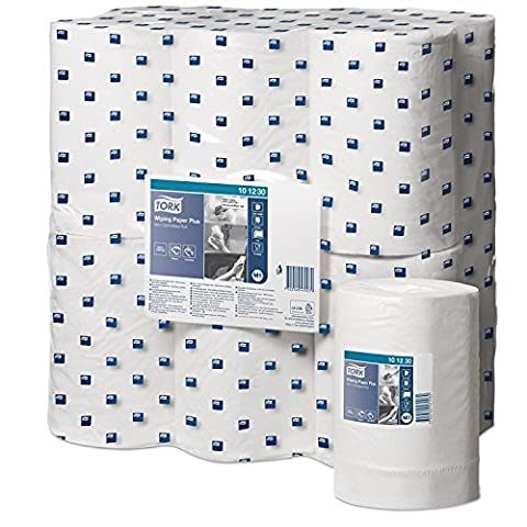 TORK 101230 Wiping Paper Plus Mini, Centrefeed Roll (Pack of 12)