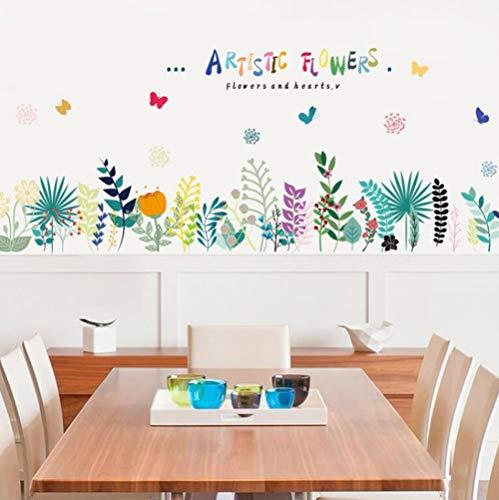 GemengTM Warme handbemalte Wandsticker Sockelleisten Kinderzimmer Klassenzimmer Dekoration Aufkleber -50 * 70cm