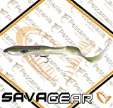 Savage Gear 3D Hard Eel Tail Bait 17cm 40g Slow Sinking Green Silver Gummifisch
