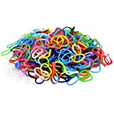 Ateam - Selection de 600 pieces d'élastiques bracelet - 100% compatibles Loom, Crazy-Loom, Twitz bands + 25 clips - Differents coloris