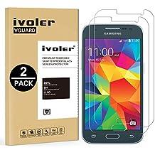 [2 Pack] Samsung Galaxy Core Prime Protector de Pantalla, iVoler Protector de Pantalla de Vidrio Templado Cristal Protector para Samsung Galaxy Core Prime -Dureza de Grado 9H, Espesor 0,30 mm, 2.5D Round Edge-[Ultra-trasparente] [Anti-golpe] [Ajuste Perfecto] [No hay Burbujas]- Garantía Incondicional de 18 Meses