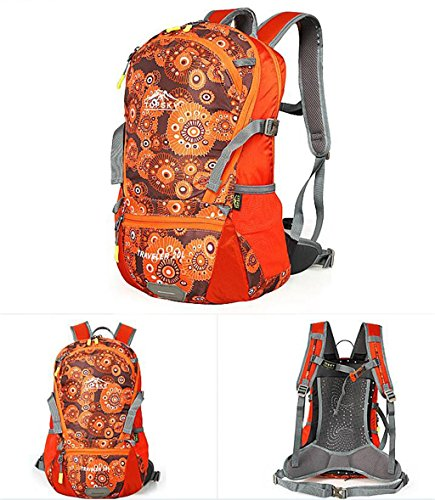 modelli maschili e femminili outdoor borsa sportiva corsa dello zaino di alpinismo zaino trekking 20L ( Colore : Marrone , dimensioni : 20L ) Arancia