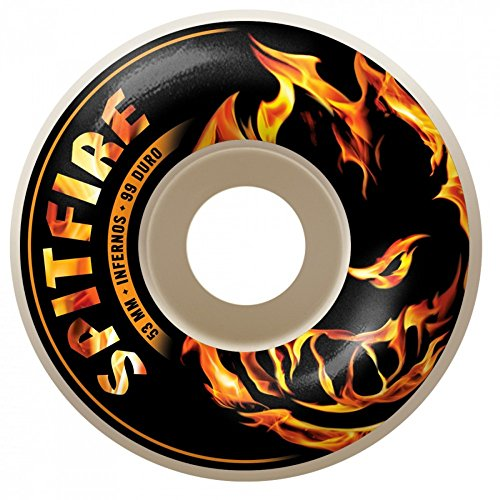 SPITFIRE WHEELS (JEU DE 4) INFERNOS WHITE 53MM
