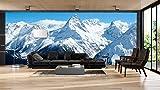 Fotomural Vinilo Pared Montañas Nevadas | Fotomurales pared | Fotomural Decorativo | Mural | Vinilo Decorativo | Varias Medidas 200 x 150 cm | Decoración comedores salones | Motivos Paisajisticos