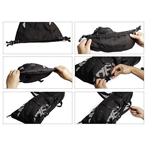 5e3a3772de3c45 ROSWHEEL reißfestes Polyester Fahrrad Satteltasche unter Rückseite Sitz  Tasche mit einrollbarer öffnen und reflektierendes Logo für ...