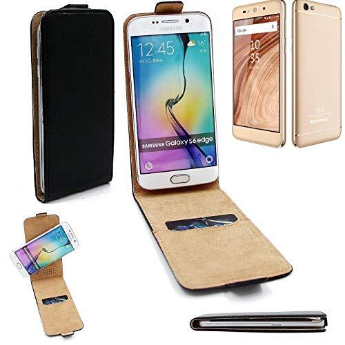 K-S-Trade® Für Blaupunkt SL02 Flipstyle Schutz Hülle 360° Smartphone Tasche, Schwarz, Case Flip Cover Für Blaupunkt SL02