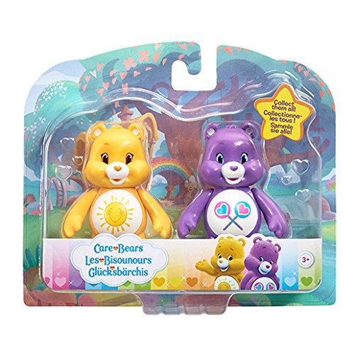 "Image of Vivid Imaginations ""Funshine Bear and Share Bear"" Care Bears Figures (Multi-Colour)"