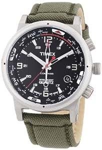 Timex - T2N726AU - Intelligent Quartz - Montre Homme - Quartz Analogique - Cadran Noir - Bracelet Nylon cordura Gris