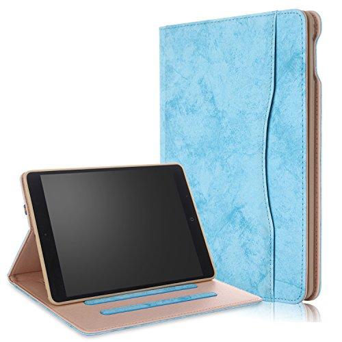 018/2017 iPad Air/Air2 Hülle Multifunktionale TPU Soft Case, Mehrere Sichtwinkel mit Hand-Halter [Auto Schlaf/Wach] Schutzhülle für Apple iPad 9.7 2017/2018/Air/Air2 Himmelblau ()