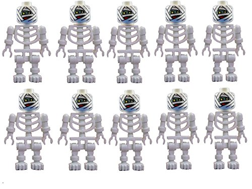 Lego 10x weißes Skelett Mumie Mumienskelett white Mummy skeleton - Halloween Fighters Monster Lego