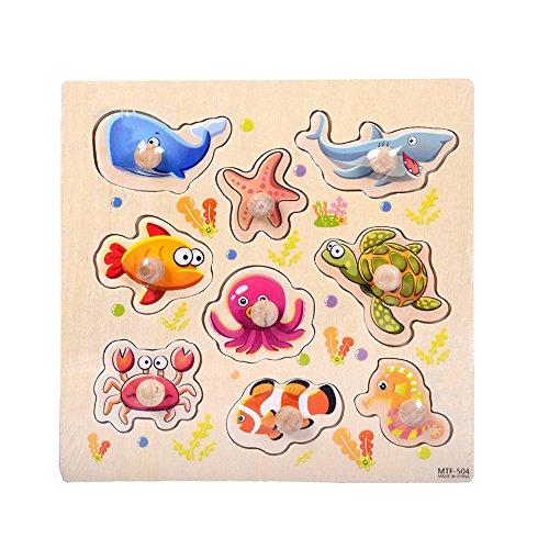 Juguetes Educativos Puzzles Rompecabezas Madera Juguete de Pizarra Cara Tablero de Dibujo Juguetes Regalo Puzzles Infantil Regalos Creativos para Niños Holatee(Color al Azar)