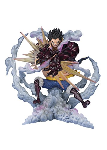 One Piece Gear Fourth Luffy King Of Artist The Monkey.d.luffy Anime Pvc Action Figure Model Toy Christmas Gift 16cm Pure White And Translucent Action & Toy Figures