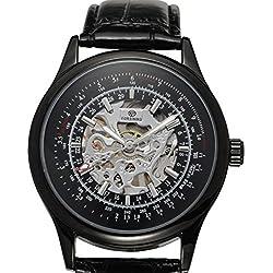 LEORX Forsining Men Boy Fashion Hollow Style Automatic Mechanical Wrist Watch -1 Piece