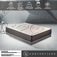Komfortland Colchón viscoelástico Memory Vex Foam con 5 cm de ViscoProgression Grafeno, Altura 25 cm  90 x 190 cm