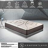 Komfortland Colchón viscoelástico Memory Vex Foam con 5 cm de ViscoProgression Grafeno, Altura 25 cm Medida 135x190 cm