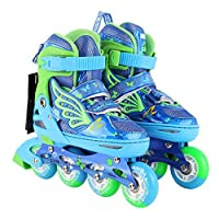 RUIXFVS Superior Comfort Inline Skates for Kids with Full Light Up LED Wheels, PU Non-slip Wear-resistant Mute Rubber Wheel Buckle Safety Shoelace Great Gift