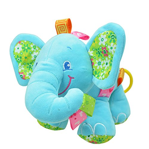 a5d36936ae2 V Convey Elefante de Peluche Juguetes Animales de Felpa Bebe Pull Music  (Azul)