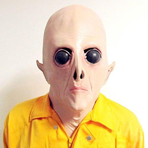 (Pygex (TM) Alien-Maske, gro?e Augen Horrible Terrestrial Partei Horror Rubber Latex Vollmasken f¨¹r Kost¨¹m-Partei Cosplay)