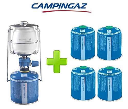 ALTIGASI Lanterne Lampe à gaz Campingaz LUMOGAZ Plus de 80 W + 4 pièces Cartouche CV 470 de 450 GR