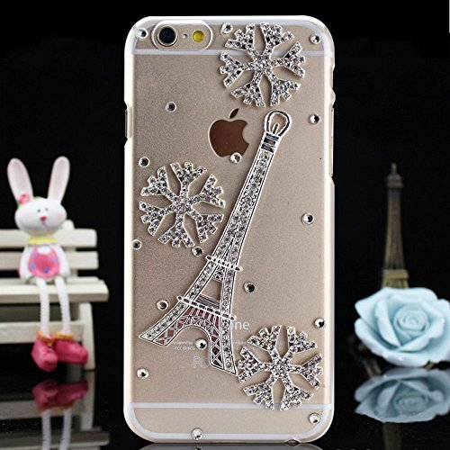 iPhone 6S Plus Coque Bling Bling,iPhone 6S Plus Coque Antichoc,iPhone 6S Plus Coque Fille,iPhone 6S Plus Coque Femme,EMAXELERS iPhone 6S Plus Coque Diamant Hard Etui,iPhone 6S Plus Coque Dual Layer Pl Diamond PC Series 11
