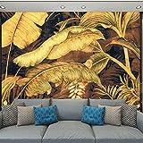 YUANLINGWEI Wandbild Tapete Anpassen 3D Foto Wandbild Tapete Natur Banane Blätter Landschaft Abstrakte Wohnkultur Für Wohnzimmer Tv Sofa Hintergrund,100Cm (H) X 200Cm (W)