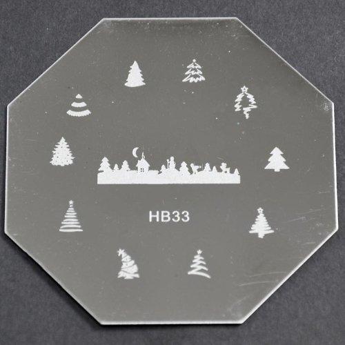 Nail Art emboutissage des tôles - HB33 CODE : HB33-plaque
